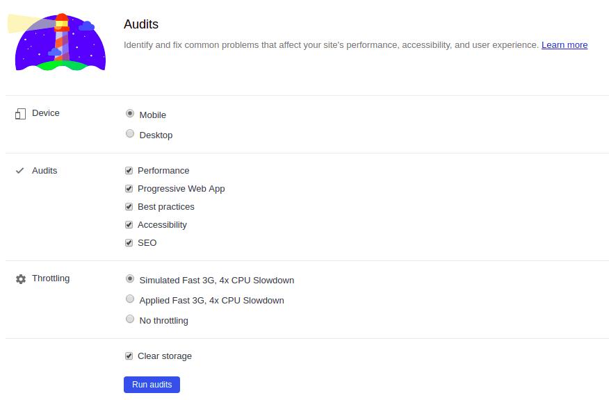 Configurando o audits